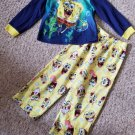 SPONGEBOB SQUAREPANTS Long Sleeved Flannel pajamas Boys Size 4T