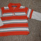 THE CHILDREN'S PLACE Orange Striped Rugby Shirt Boys Size 18 months