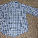 THE CHILDREN'S PLACE Blue Plaid Long Sleeved Button Front Shirt Boys Size 4T