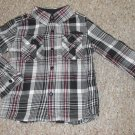 SEAN JOHN Black Plaid Long Sleeved Button Front Shirt Boys Size 4T