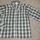 PERFECTLY DRESSED Green Plaid Button Front Shirt Boys Size 3T