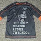 NEW BALANCE Gray Layered Look Dri Fit Lacrosse Shirt Boys Size 5-6