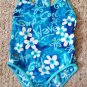 SPEEDO Blue Floral SURF GIRL Tank Bathing Suit Girls Size 8