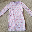 CARTER'S Purple Snowman Print Flannel Nightgown Pajamas L Girls Size 8-10