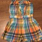 GYMBOREE Plaid Sleeveless Short Romper Girls Size 4T