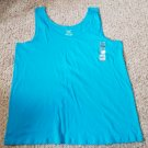 NWT Blue FADED GLORY Layering Tank Top Womans Plus Size 4X 26W 28W