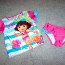 DORA the EXPLORER Short Sleeved UV Tankini Bathing Suit Girls Size 4T