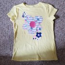 JUMPING BEANS Yellow Daisy Print Short Sleeved Top Girls Size 7