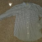 CRAZY 8 Black Checked Long Sleeved Button Front Shirt Boys Size 10-12