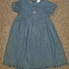 LANDS END Short Sleeved Denim Dress Girls Size 24 months