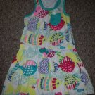 WONDERKIDS Fishy Print Racer Back Sundress Girls Size 4T