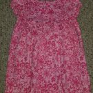 L.L. BEAN Pink Floral Print Short Sleeved Cotton Dress Girls Size 3T