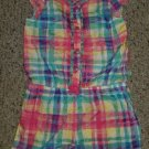 THE CHILDREN'S PLACE Pink and Blue Plaid Short Romper Girls Size 4T