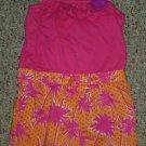 HEALTHTEX Pink and Orange Tropical Print Short Romper Girls Size 4T