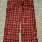 BURTON Red and Black Plaid GORE-TEX Dri Ride Snowboarding Winter Pants Boys Size 14-16 XL