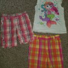 CARTER'S GARANIMALS Lot of Tops and Plaid Shorts Girls Size 3T