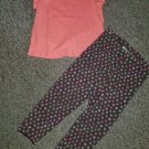 THE CHILDREN'S PLACE Coral Top JUMPING BEANS Floral Leggings Girls Size 3T