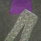 THE CHILDREN'S PLACE Purple Top OSH KOSH Floral Leggings Girls Size 3T