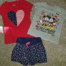 Lot of Tops MICKEY MOUSE and JUMPING BEANS Shorts Girls Size 4