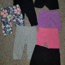 Huge Lot of Bike Shorts and Capri Leggings Various Brands Girls Size 12-18 months