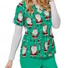 BRAND NEW Oh What Fun Santa TAFFORD Christmas Scrub Top Plus Size 2X