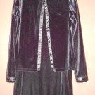 BONNIE JEAN Black Velvet Tank Dress with Velvet Cardigan Jacket Girls Size 8