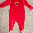 CARTER'S KIDS Red Velour Reindeer Romper Size 18 months
