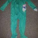 NWT Green Polka Dot Snowman One Piece CARTER'S Pajamas Girls Size 4T