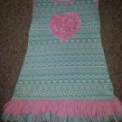 J CREW Blue with Pink Sleeveless Dress Aztec Abstract Print Girls Size 7