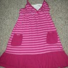 FADED GLORY Pink Striped Halter Dress Girls Size 7-8