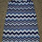 GAP KIDS Blue Zig Zag Print Racer Back Tank Dress Girls Size 6-7