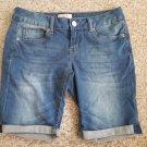 SO Cuffed Stretch Denim Jeans Shorts Juniors Size 7