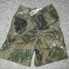 BABY GAP Green Tropical Print Trunk Style Bathing Suit Boys Size 2T