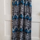 DEREK HEART Black and Blue Print Long Sundress Ladies MEDIUM Built In Bra