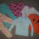 Girls Pajama Lot Various Long Sleeved Tops and Bottoms Size 2T 3T CARTER'S