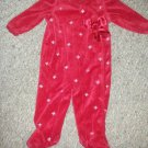 LITTLE WONDERS Red Velour Snowflake Print Romper Girls 6-9 months