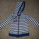 THE CHILDREN'S PLACE Navy Striped Hooded Jacket Girls 12-18 months