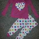 THE CHILDREN'S PLACE Pink Polka Dot Print Pajamas Girls Size 2