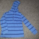 CARTER'S Blue Striped Hooded Long Sleeved Top Boys Size 5