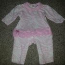 KYLE & DEENA Pink Zebra Print Tutu Pants Romper Girls Size 6-9 months