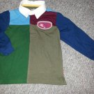 OSH KOSH Colorblock Long Sleeved Rugby Top Boys Size 5T