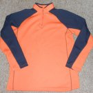 KING SIZE Orange and Navy Pullover Sweatshirt Mens Large