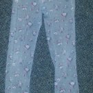 THRILLING WAVES Gray Floral Print Corduroy Pants Girls Size 10 Adjustable Waist
