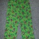 TEENAGE MUTANT NINJA TURTLES Green Flannel Sleep pants Boys Size L