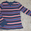 OLD NAVY Blue Striped Waffle Weave Long Sleeved Top Boys Size 4T
