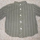 KENNETH COLE REACTION Green Striped Long Sleeved Shirt Boys Size 12 months