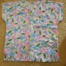 SB FASHION SCRUBS Floral Print Scrub Top Ladies LARGE