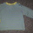 LE TOP Blue and Yellow Striped Long Sleeved Top Boys Size 24 months