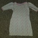 U.S. POLO ASSN Pink Floral Print Infant Nightgown Girls Size 0-3 months