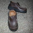 NEW Brown Leather CHEROKEE Loafers Toddler Boys Size 5.5